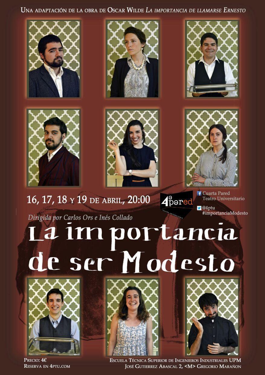 """Teatro en la Escuela: """"La importancia de ser Modesto"""" por Cuarta ..."""