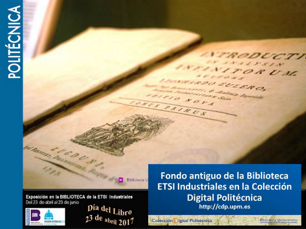 Fondo antiguo de la Biblioteca ETSII en la Colección Digital Politécnica