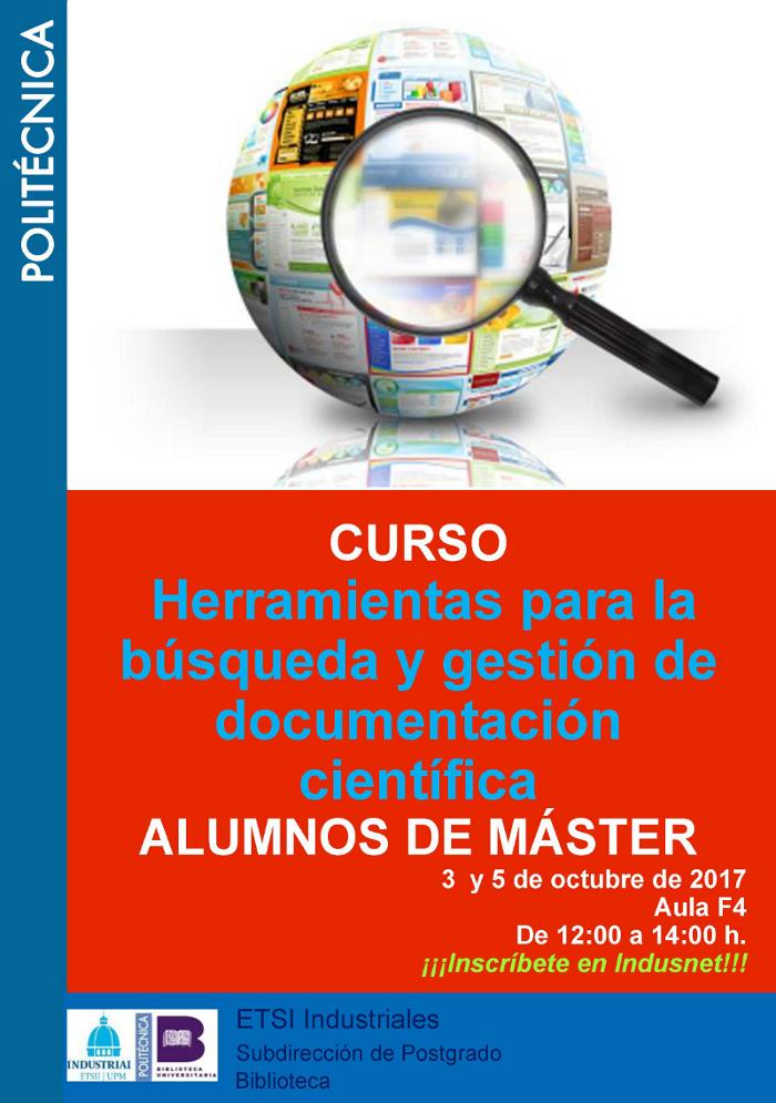 Curso Herramientas para la búsqueda y gestión de documentación científica