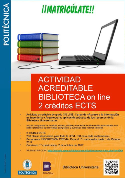 Actividad acreditable biblioteca online
