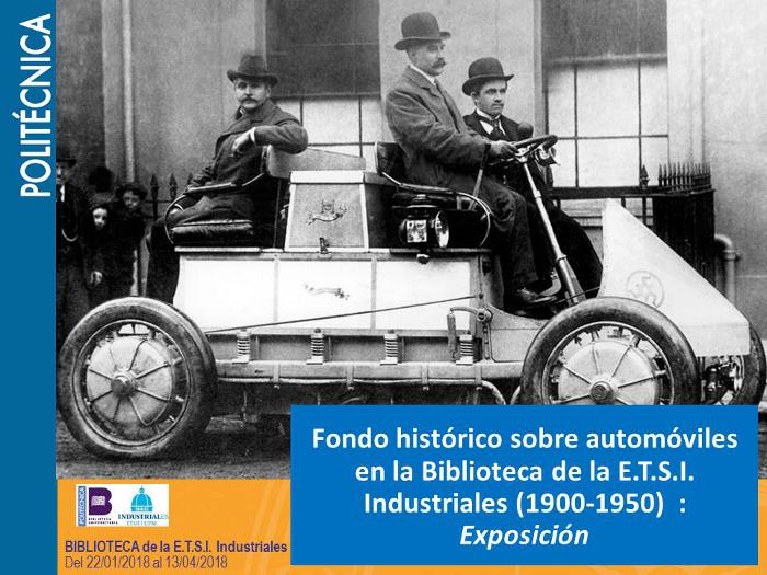Exposición fondo histórico sobre automóviles