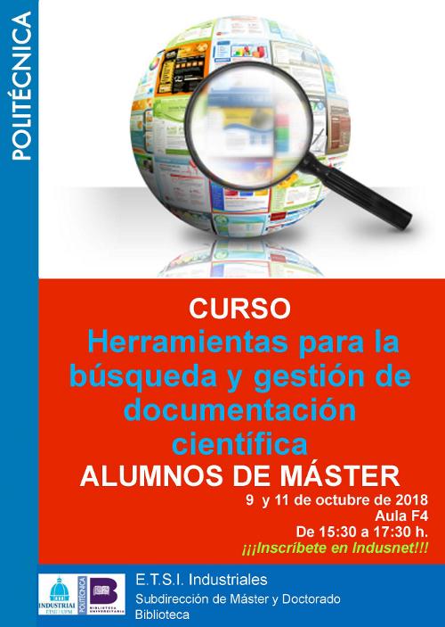 Curso Herramientas búsqueda y gestión documentación científica