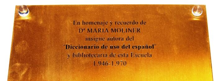 Placa homenaje a María Moliner