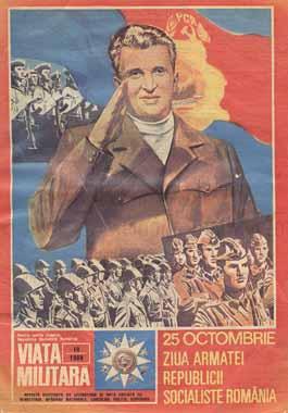 Cartel propagandistico de Ceausescu