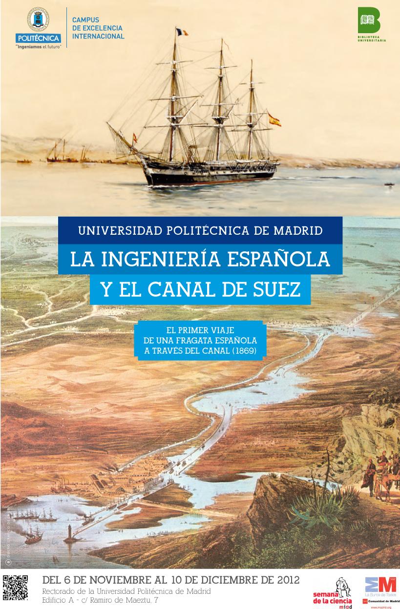 Cartel La ingeniería española y el Canal de Suez