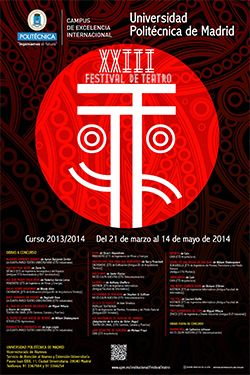 Cartel XXIII Festival de Teatro de la UPM
