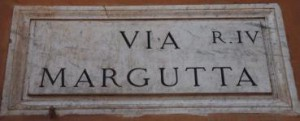 Rotulo Via Margutta