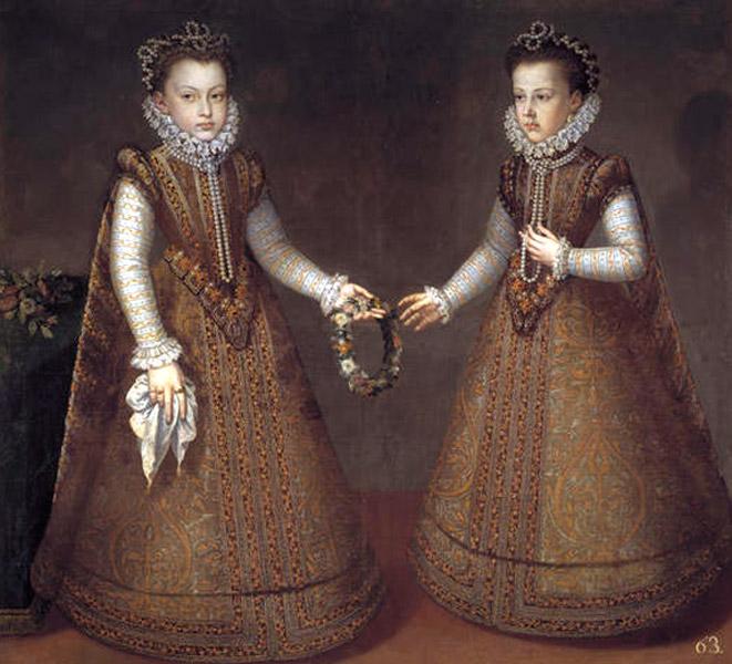 Las infantas Isabel Clara Eugenia y Catalina Micaela.