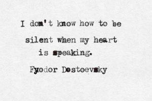No se como quedarme callado cuando mi corazón habla