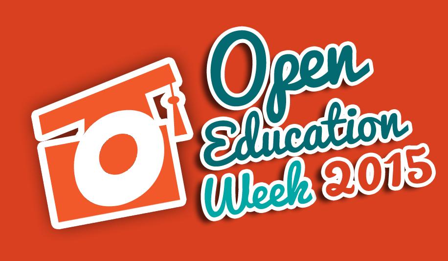 Open Education Week 2015 Logo - Orange BG