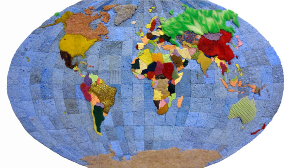 Mapa mundi de esponjas