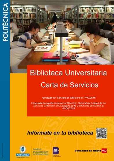 Nueva Carta de Servicios del Servicio de Biblioteca Universitaria UPM