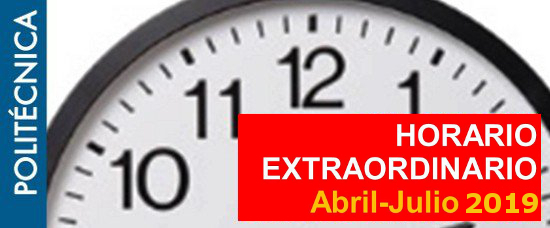 horario extraordinario abril julio 2019