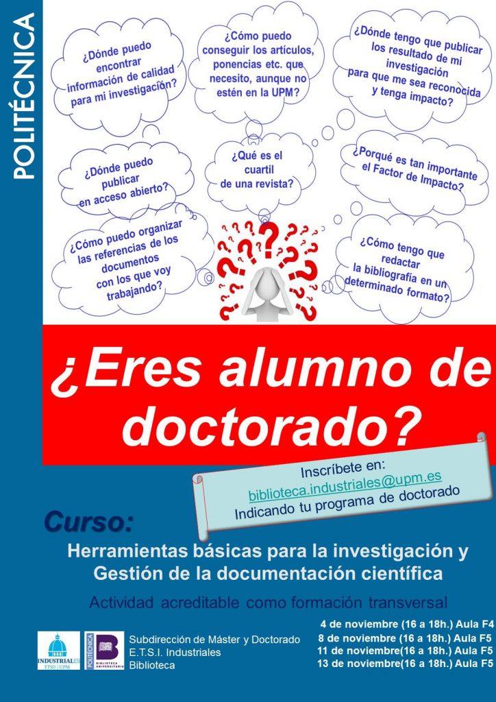 """Curso """"Herramientas básicas para la investigación y gestión de la documentación científica"""""""