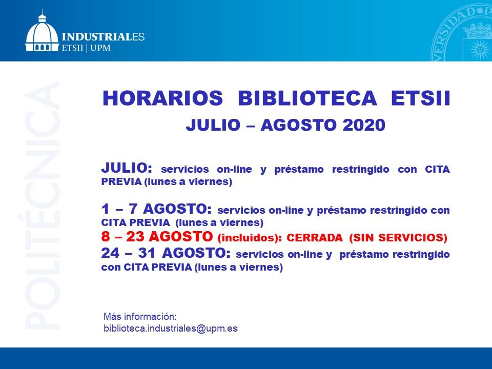 Biblioteca ETSII verano 2020