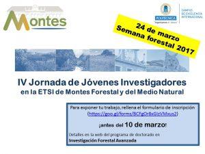 anuncio IV Jornadas Jóvenes Investigadores ETS MFMN