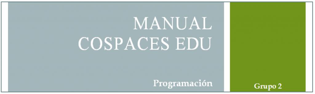 Portada manual propio para CoSpaces Edu