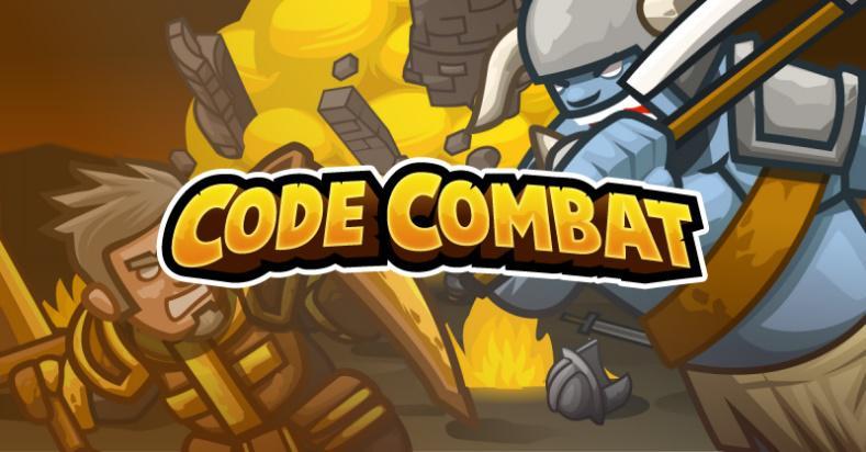 CodeCombat logo oficial con fondo