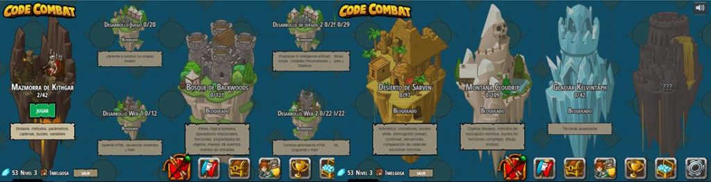 Niveles juego CodeCombat