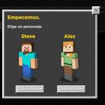 Avatares a escoger en el curso Minecraft