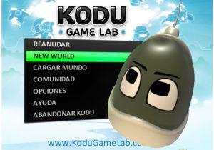 Menú de inicio Kodu Game Lab
