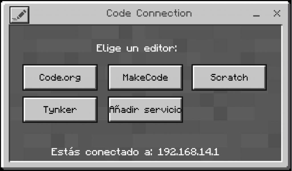 Panel elección de editor de códigos