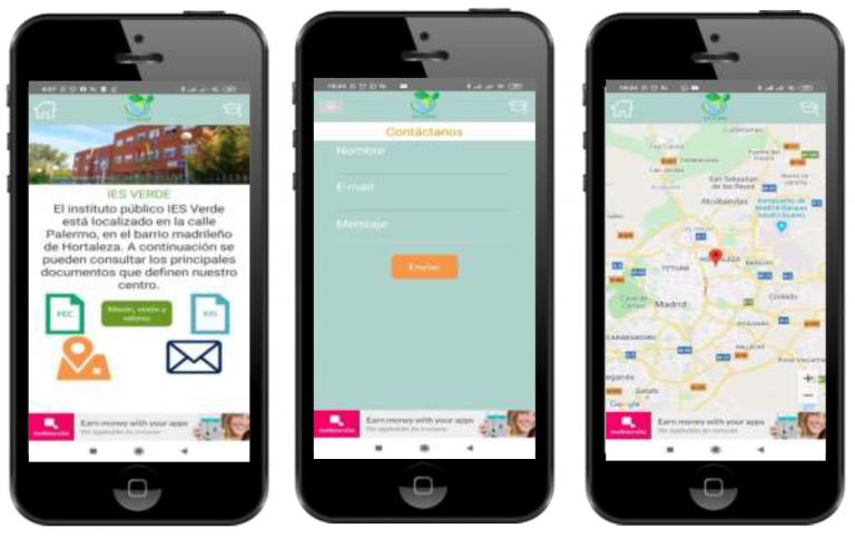 Diferentes ejemplos de apps en Mobincube