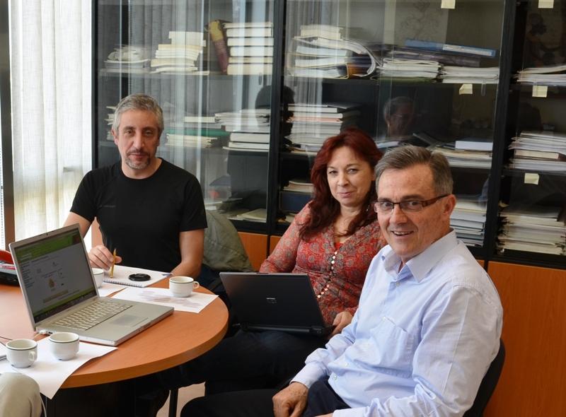 Foto Enrique Rubio, Mª Luisa Sein-Echaluce y Angel Fidalgo