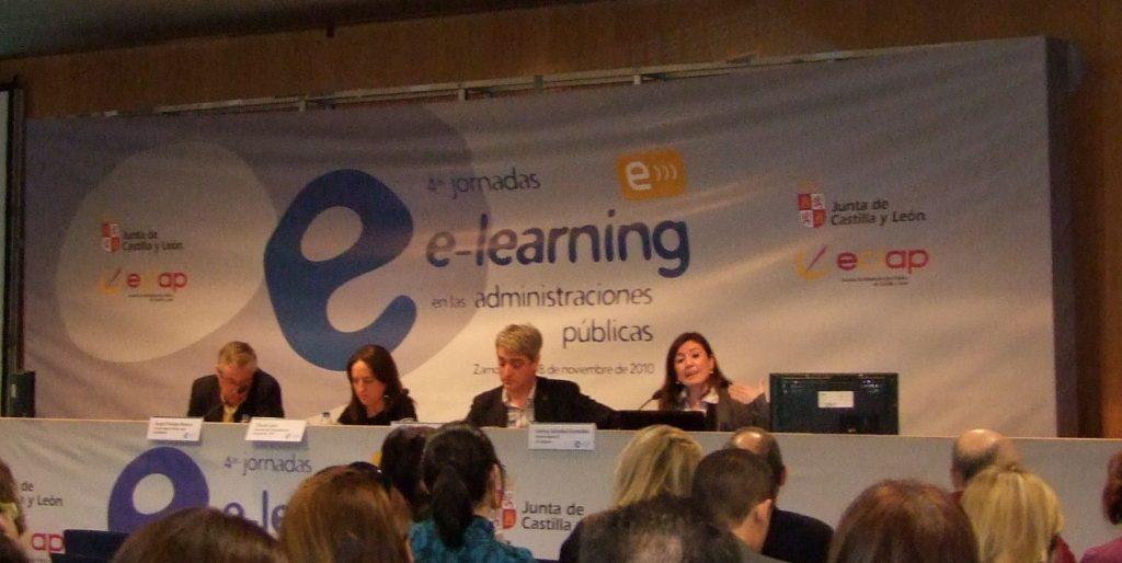 Foto Mesa debate IV jornadas de e-learning
