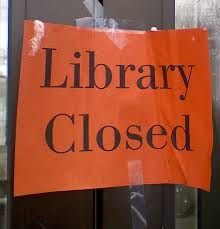 cierre de biblioteca