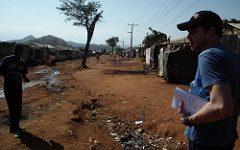 Javier Mazorra en los campos de refugiados de Etiopía