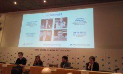 Presentación de la publicación en Caixaforum Madrid, en diciembre de 2018