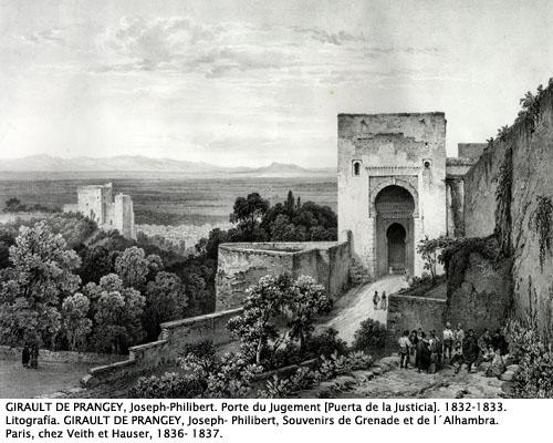Puerta dela Justicia. J-P Girault, 1833.