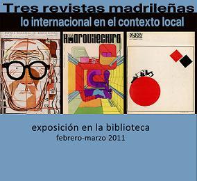 Exposición: Tres revistas madrileñas : lo internacional en el contexto local