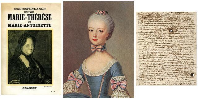 María Teresa de Austria, María Antonieta de Francia