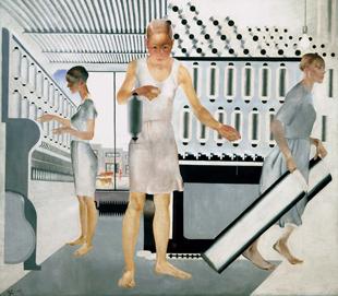 Las trabajadoras textiles (1927), Aleksandr Deineka