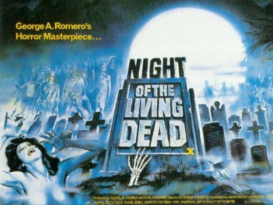 Cartel La noche de los muertos vivientes, de George A. Romero