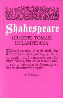 Shakespeare, Giuseppe Tomasi di Lampedusa