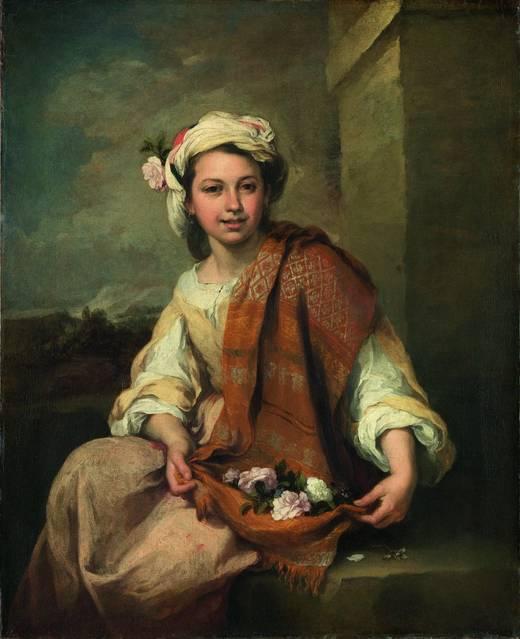 La primavera (La florista). Murillo. Londres, Dulwich Picture Gallery.