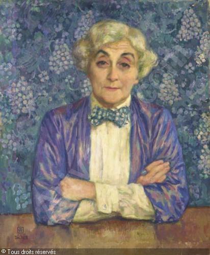Retrato de la autora realizado por su marido Théo Van Rysselberghe