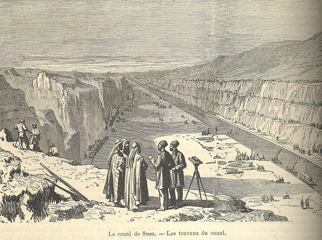 El Canal de Suez. Los trabajos del Canal