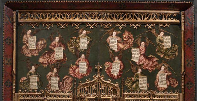 Detalle del Retablo de los gozos de Santa María