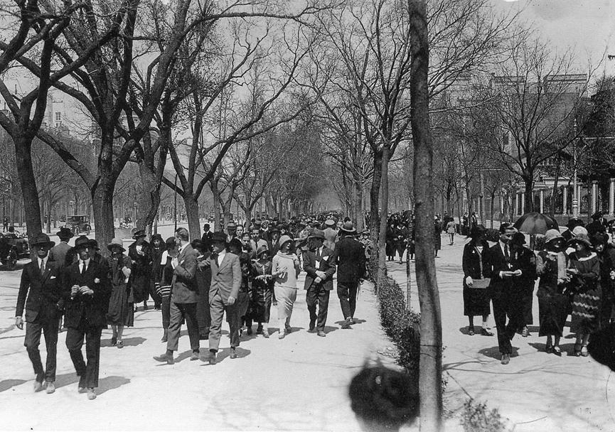 Madrid. Paseo de la Castellana. 1930.