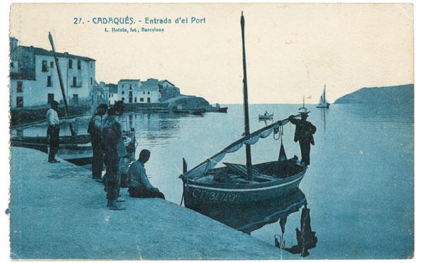Trajeta postal de Cadaqués