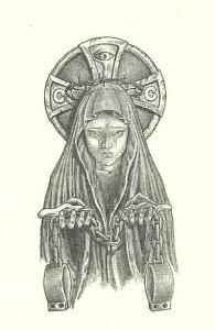 Tatuaje siberiano de una Virgen