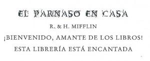 Lema de la Librería El Parnaso