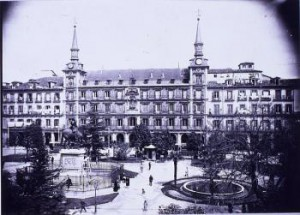 Plaza Mayor. Cerca de 1930.
