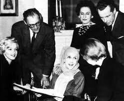 Henry Miller, Karen Blixen y Marylin Monroe en Nueva York en 1957