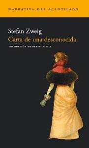 """Cubierta libro """"Carta de una desconocida"""""""