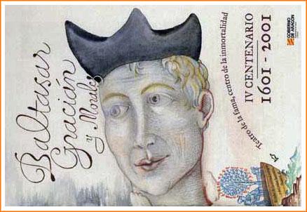 Sello conmemorativo del cuarto centenario del nacimiento de Baltasar Gracián